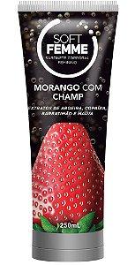 SOFT FEMME MORANGO COM CHAMP SABONETE CORPORAL FEMININO 250mL