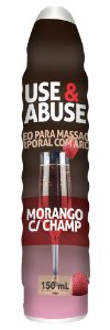 Use e Abuse Morango com Champ Óleo Corporal  150mL