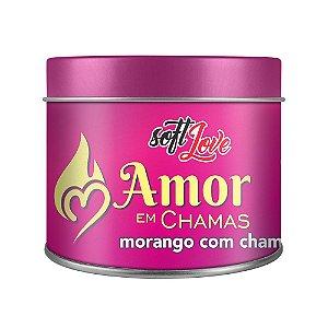 AMOR EM CHAMAS MORANGO COM CHAMP VELA AROMÁTICA 50g