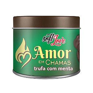 AMOR EM CHAMAS TRUFA COM MENTA VELA AROMÁTICA 50g