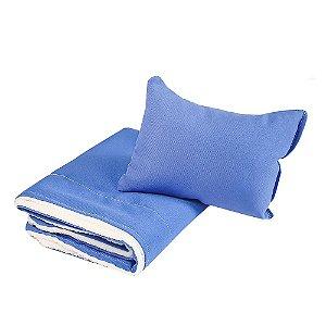 Cobertor Dupla Face Cachorro e Gato Pet Edredom - Azul