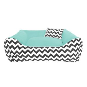 Cama para Cachorro Gato -100% lavável -60x60 Bed Verde Água