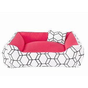 Cama 60x60 Geométrica Rosa