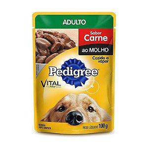 Pedigree Sachê Adulto Raças Pequenas Carne 100gr