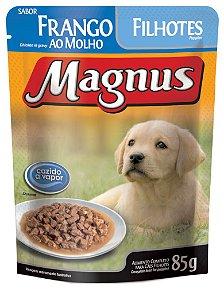 Magnus Sachê Cães Filhotes Frango 85 Gr