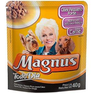 Magnus Sachê Cães T D Adulto Pequeno Porte Carne 40gr