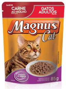 Magnus Sachê Cat Adultos Carne 85 Gr