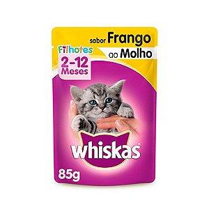 Whiskas Sachê Filhotes Frango ao Molho 85 G