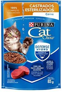 Cat Chow Sachê Castrados Carne 85 Gr