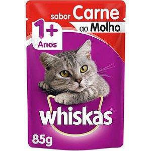 Whiskas Sachê Carne ao Molho 85 G