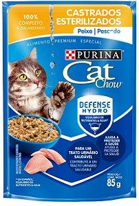 Cat Chow Sachê Castrados Peixe 85 Gr