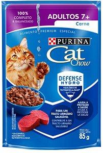 Cat Chow Sachê Adultos 7+ Carne 85 Gr