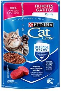 Cat Chow Sachê Filhotes Carne 85 Gr