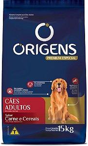 Origens Cães Adultos Carne e Cereais 15 Kg
