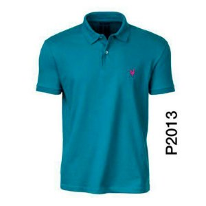 Polo Masculina Turquesa P2013 - Made In Mato