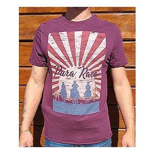 Camiseta Masc Pura Raça Rodeio Vinho