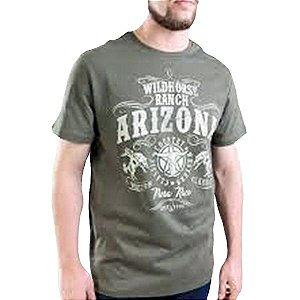 Camiseta Masc Pura Raça Rodeio Verde