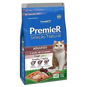 Premier Seleção Natural Gatos Adultos - Frango