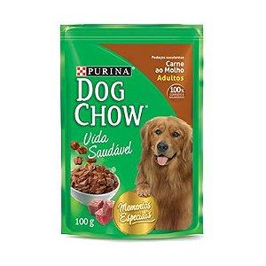 Dog Chow Sachê Ad Carne ao Molho 100gr - Promoção
