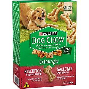 Dog Chow Biscoito Integral Frango Maxi 500 gr