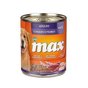 Max Caes Wet Adulto Cordeiro/Frango 280 gr