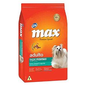 Max Cães Adulto Raças Pequenas Carne, Cereias e Legumes