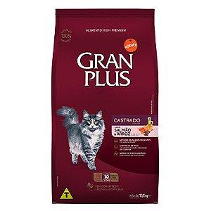 Granplus Gato Castrado Salmão e Arroz 10,1 Kg (Embalagens Individualizadas)