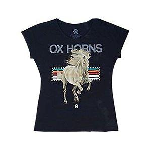 T-Shirt Preta Ref. 6082 - Ox Horns