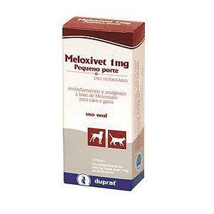 Meloxivet 1 MG Pequeno Porte C/ 10 Comprimidos