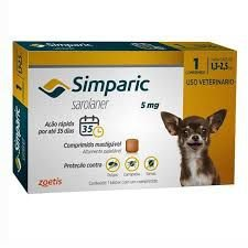 Simparic 1 Comp  05 MG (1,3 Kg - 2,5 Kg)
