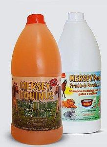 Shampoo Mersey Liq Repelente Equinos 3 L