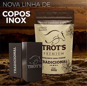 Copo Inox - Quadrado Marrom 250 ML - Trot'S