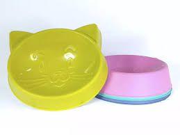 Comedouro Cara de Gato - Cores Diversas