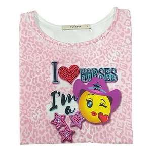 T-Shirt Girsl M/C Classica Rosa Ref. 4390tg0 - V1