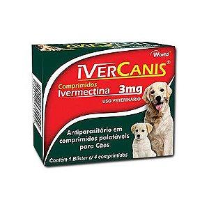 Ivercanis  3 Mg (4 Comprimidos Caixa)