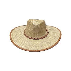 Chapéu de Palha Ref. 91009 Couro Frente - Formado