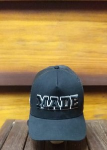 BONÉ TRUCKER BLACK MADE B1842 - MADE IN MATO