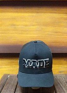 BONÉ TRUCKER BLACK MADE B1842 - MADE IN MATO