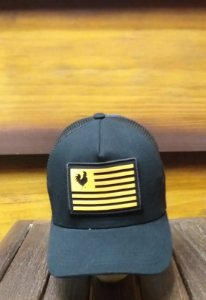 BONÉ TRUCKER FLAG PRETO B1552 - MADE IN MATO