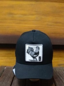 BONÉ TRUCKER BLACK ROOSTER B1615 - MADE IN MATO