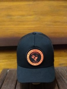 BONÉ TRUCKER BLACK PATCH LARANJA B1625 - MADE IN MATO