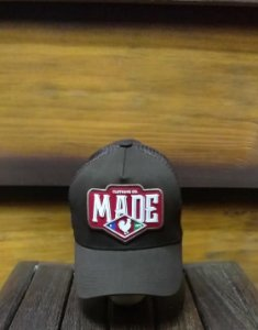 BONÉ TRUCKER SHIELD BLACK B1695 - MADE IN MATO