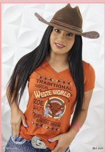 T-SHIRT ZOE HORSE CAQUI WEST WORLD REF. 2031