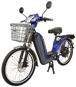 Bicicleta Elétrica 350w 48v/14A Aro 24 - Azul