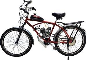 Bicicleta Motorizada Caiçara Sport 80cc - Vermelha