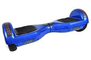 Hoverboard Smart Balance Aro 6,5 Azul com Leds e Bluetooth
