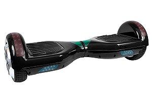 Hoverboard Smart Balance Aro 6,5 Preto com Leds e Bluetooth