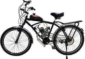 Bicicleta Motorizada Caiçara Sport 80cc - Preta