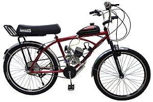 Bicicleta Motorizada Bikelete Caiçara XR Motor 80cc - Vermelha