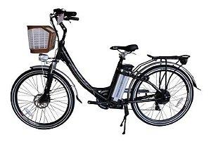 Bicicleta Elétrica July Aro 26 Bateria de Lítio Preta - Magias Italiane